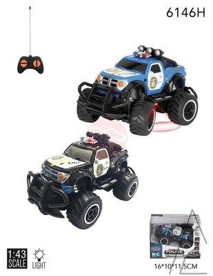 阿莎力 迷你小型遙控車 1:43遙控車 悍馬 警車