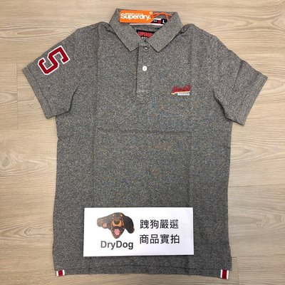 跩狗嚴選 現貨 極度乾燥 Superdry Classic Polo衫 經典款 深灰 素色 厚實 短袖 上衣 S~3XL