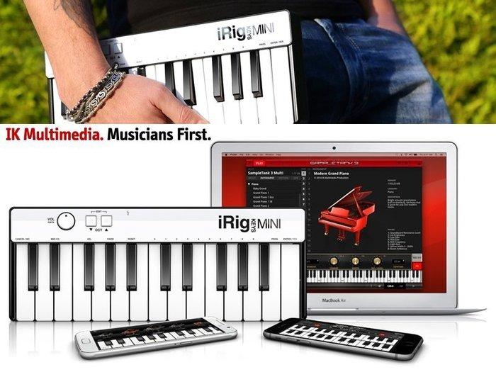 ☆ 唐尼樂器︵☆ IK iRig Keys Mini- 25鍵通用型迷你 iOS/ Android/ USB 主控鍵盤