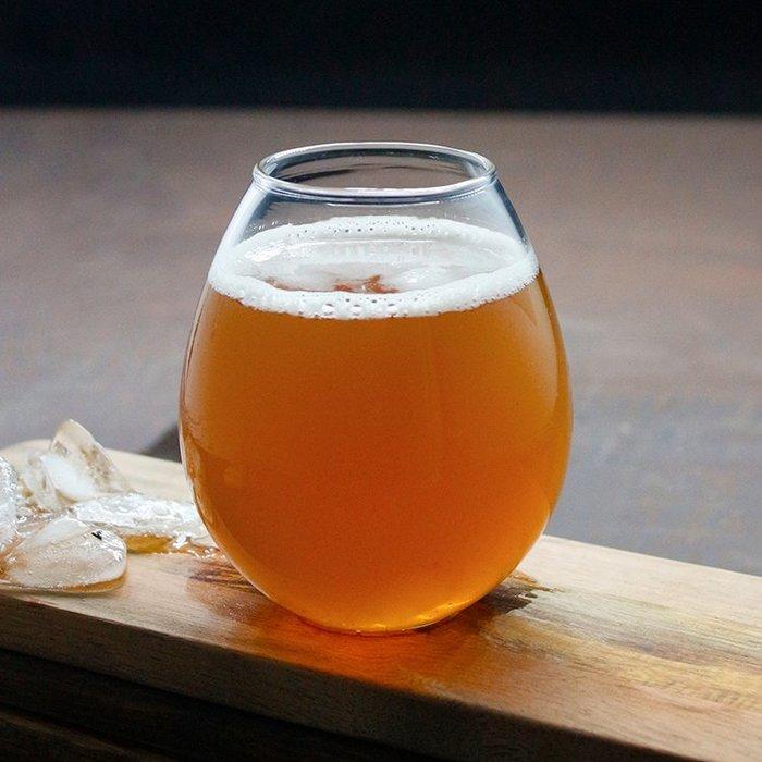 肥貓酒杯LOGO定制精釀啤酒杯水滴杯酒花兒杯網紅杯球型混濁玻璃杯歐式酒杯