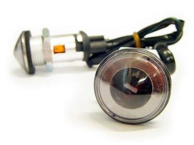 RILI~S-A1821 / BK1821~機車側邊燈(方向燈)崁入旋轉式~ 燻黑殼