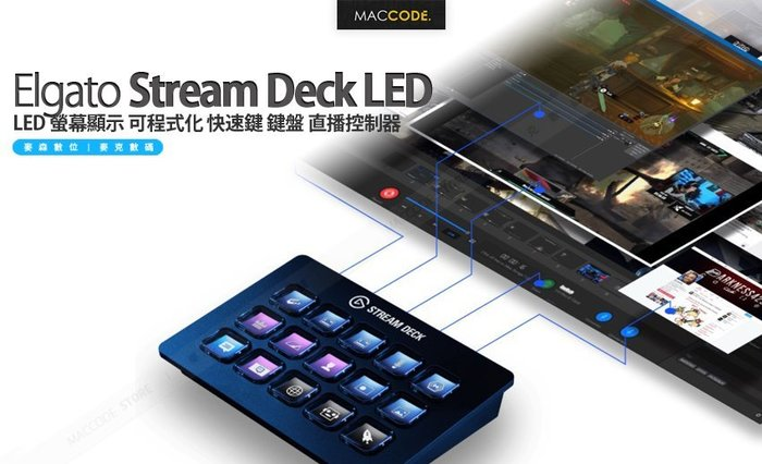 Elgato Stream Deck LED 螢幕顯示 可程式化 快速鍵 鍵盤 直播控制器 現貨 含稅