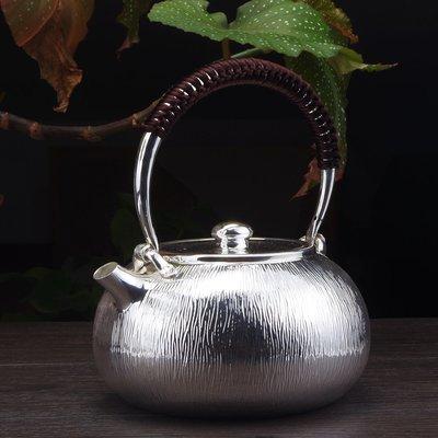 純銀燒水壺一張打 999純銀茶壺燒水壺純手工云南師傅做yyg-131