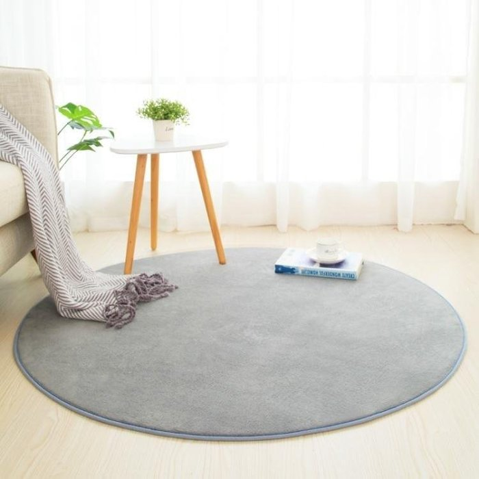 YEAHSHOP 圓形地毯臥室滿鋪可愛瑜伽墊網紅Y185