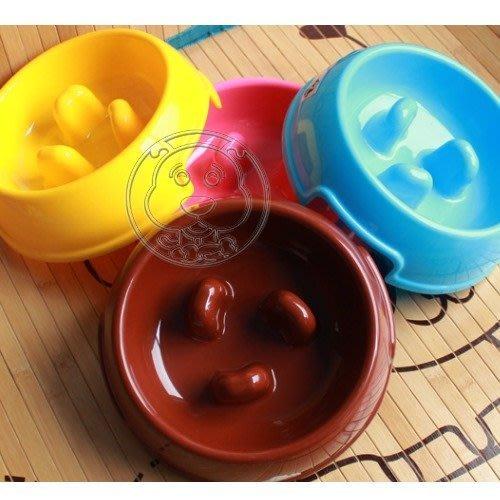 【🐱🐶培菓寵物48H出貨🐰🐹】寵物專用》小型犬用慢食碗 (S)直徑18cm顏色款式隨機  特價65元(補貨中)