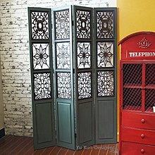 歐式美式復古實木鐵藝 屏風 隔間 裝潢裝飾擺設 老件窗花工作室咖啡廳餐廳擺件 LOFT工業設計鄉村風格 §宥薰設計家