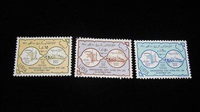 【大三元】歐洲郵票- 利比亞1961年-新票3枚-原膠