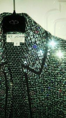 原價28萬 St.John 滿滿亮晶晶X山茶花釦針織開襟外套 晚宴重裝系列