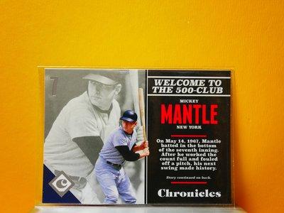 Mickey Mantle 2017 Chronicles 漂亮明星卡
