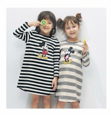 Co媽日本精品代購 預購 日本 正版 迪士尼 小朋友 純綿 長版上衣 洋裝 90~140