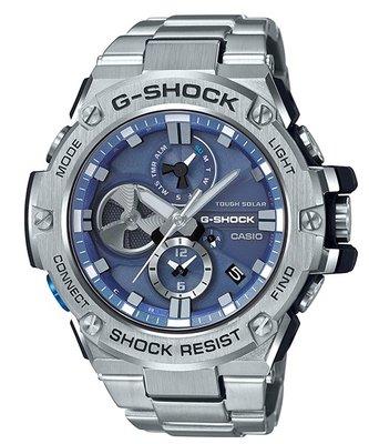 CASIO G-SHOCK GST G-STEEL series GST-B100 GST-B100D-2A 藍色 鋼帶 GSHOCK GSTB100D