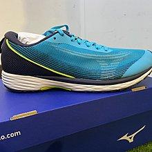 憲憲之家新款 美津濃MIZUNO DUEL SONIC 男路跑鞋 寬楦 U1GD213625 藍綠