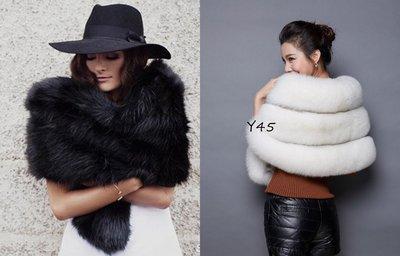 Y45仿狐狸毛 披肩  披風   婚禮用披肩 仿皮草圍巾 仿皮草披肩 $980