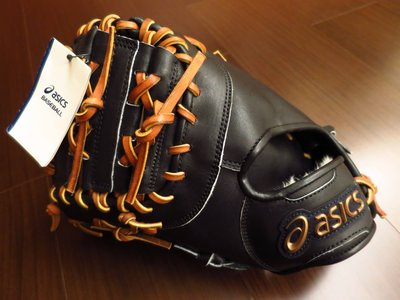 {圓圓小舖}全新日規硬式 ASICS亞瑟士 AMBITIOUS 系列一壘手手套 棒壘球手套 黑色反手左投左撇子用