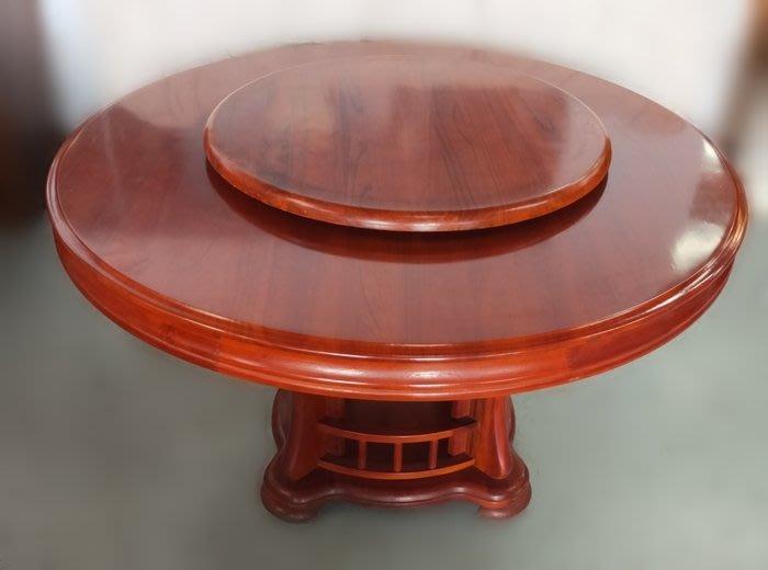 【宏品二手家具館】中古傢俱 F5263*實木圓形餐桌 二手各式桌椅 中古辦公家具買賣 會議桌椅 台北新竹免運