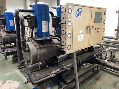 嚴選 中古.二手 50噸水冷冰水機 冷卻機 適於空調 工業製程冷卻 冷氣.熱水熱泵