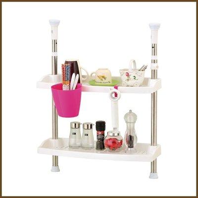 浴室/廚房/臥室【居家大師】KSF11 不鏽鋼小頂天廚房雙層置物架/收納架
