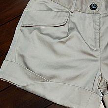 WEALTH HONOR 山形屋卡其色造型反摺短褲