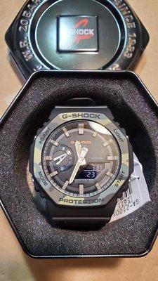 Casio G-Shock GA-2110SU-3A GA2100手錶 200米 防水 碳纖維 超薄 雙顯 八角 AP 皇家橡樹 寶格麗 黑迷彩 軍綠 黑色