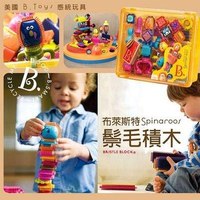 美國B.Toys 布萊斯特鬃毛積木  刷子積木(瘋狂組)