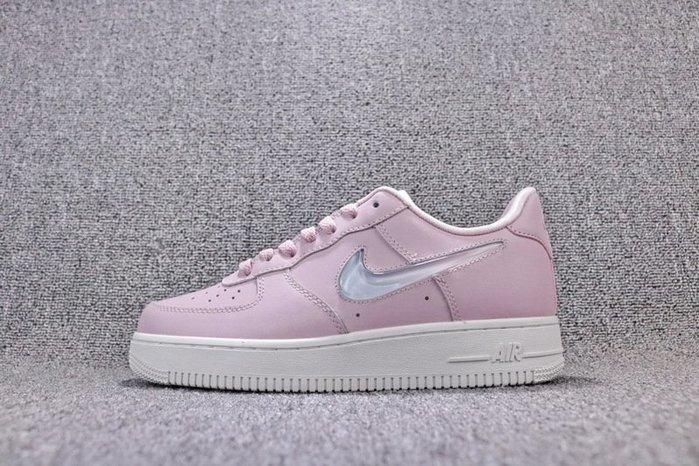 Nike Air Force1 AF1 粉色 漸變鉤 經典 休閒滑板鞋 女鞋 AH6827-500