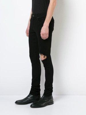『Jewel Apparel』AMIRI 19SS 基礎款 黑色 BROKEN 破壞 膝蓋 牛仔褲