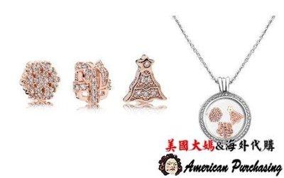 美國大媽代購 PANDORA 玫瑰金聖誕節項鍊盒墜飾組 925純銀 CHARMS 美國代購
