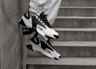 【E.D.C】Nike Zoom 2K trainers in black 復古 透氣 黑白 熊貓 AO0269-101