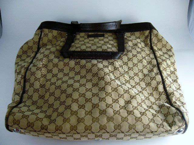[吉宏精品交流中心]GUCCI 152601 緹花布 直式 購物包 手提包
