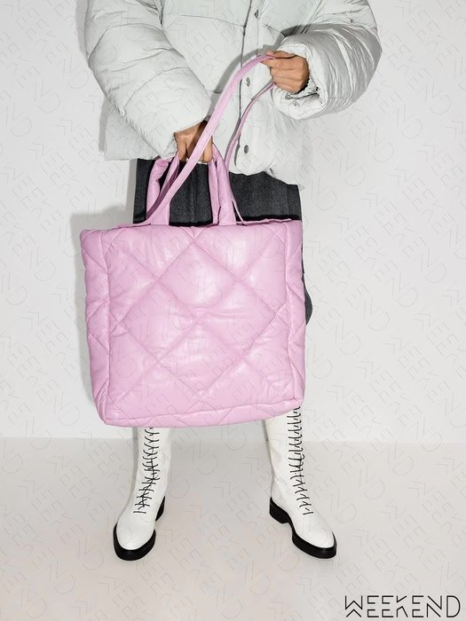 【WEEKEND】 STAND STUDIO Assante 空氣包 手提包 托特包 肩背 斜背 粉色