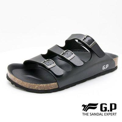 小市民倉庫-寄超商免運-GP-阿亮代言-時尚黑色柏肯拖鞋-可調式三帶套拖-橡膠發泡鞋底-M367-10-GP套拖