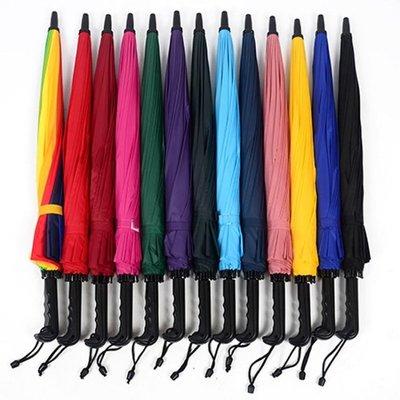 特價16骨素色彩虹傘長柄直桿傘防風傘晴雨傘商務傘定制logo廣告傘店長熱推