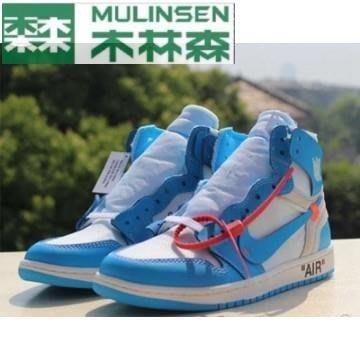 OFF-WHITE x Air Jordan 1 AJ1 UNC北卡藍OW聯名籃球鞋AQ0818-148現貨