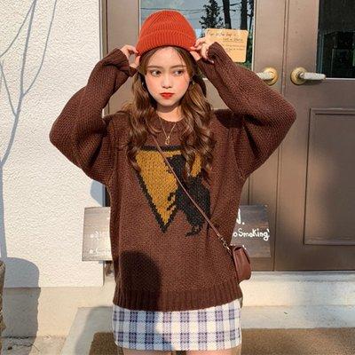 針織衫外穿冬新款韓版可愛顯瘦學院風長袖套頭ins毛衣女潮