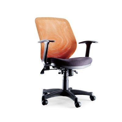 螞蟻雄兵 CP-143 OA網布辦公椅(橘色款) 電腦椅 會議椅 主管椅 電競椅 網布椅 滾輪椅 辦公家具