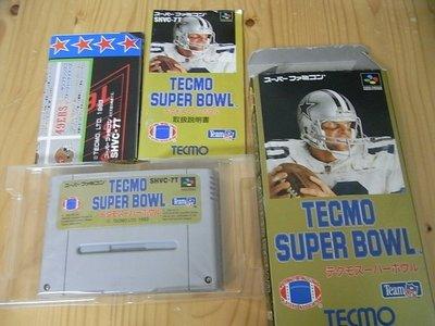 【小蕙館】SFC日版卡帶 ~ TECMO SUPER BOWL 特庫摩 超級橄欖球 (盒裝)