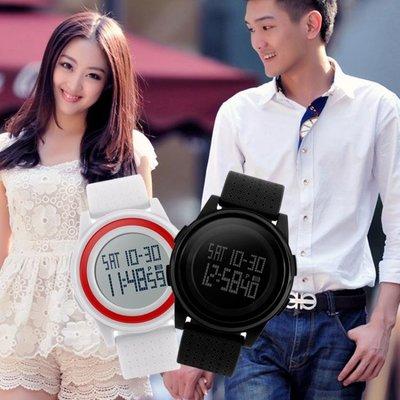 輕薄秒錶倒計時多功能電子錶 運動男女情侶學生夜光LED手錶