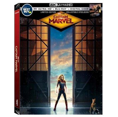 迷俱樂部|現貨!驚奇隊長 [藍光BD] 4K UHD+BD 雙碟鐵盒版 美版 Captain Marvel 漫威