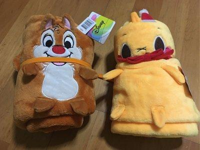 《全新》迪士尼 Disney 奇奇蒂蒂 卡通造型 小捲毯 毛毯 冷氣毯 空調毯 懶人毯 車用毯 披毯 刷毛毯