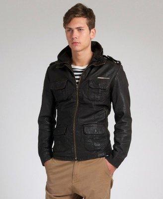 棕色 100%正品 全新 極度乾燥 Superdry Brad Leather Jacket 貝克漢 小賈斯汀 高價皮衣