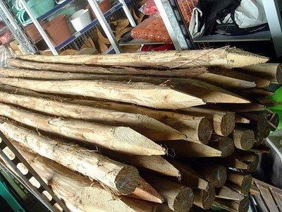 【路卡傢飾~園藝造景】樹木支架、木樁、庭園花樹圍籬支撐、原木柱、
