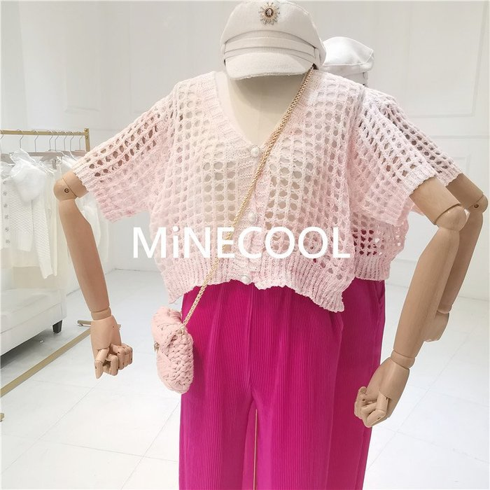 MiNE SHOP韓版排扣寬鬆上衣M9429-9 四色 均碼