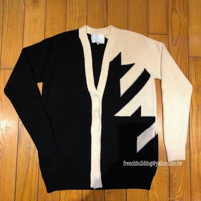 3.1 Phillip Lim  黑 白 毛衣外套