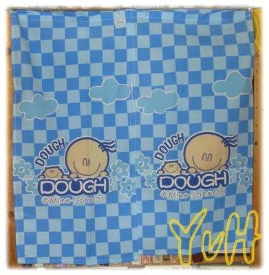 DR==YvH==Curtain 正版卡通 豆豆世界 藍色 穿桿式門簾 約85cm寬 中間開岔 實品拍攝 (現貨)