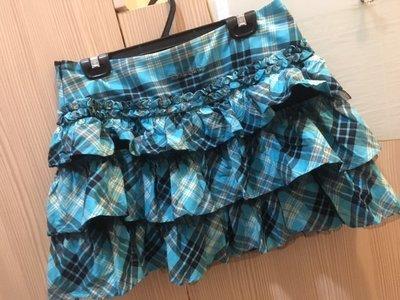 小花別針、品牌【Knights Bridge】藍色蝴蝶結蛋糕裙短裙