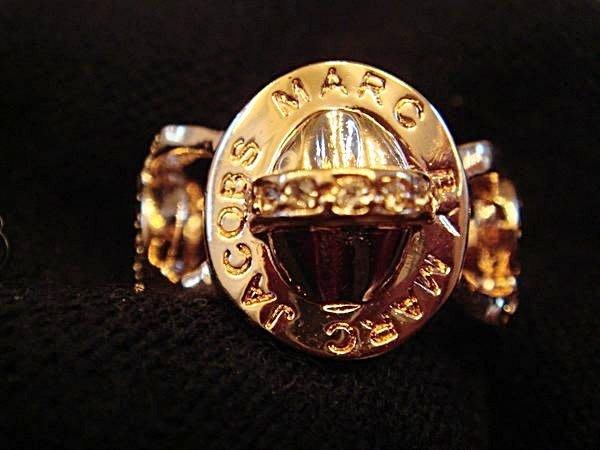 清倉大降價!全新美國帶回 Marc by Marc Jacobs 粉紅金色鑲水鑽戒指,只有一件,低價起標無底價!免運費!