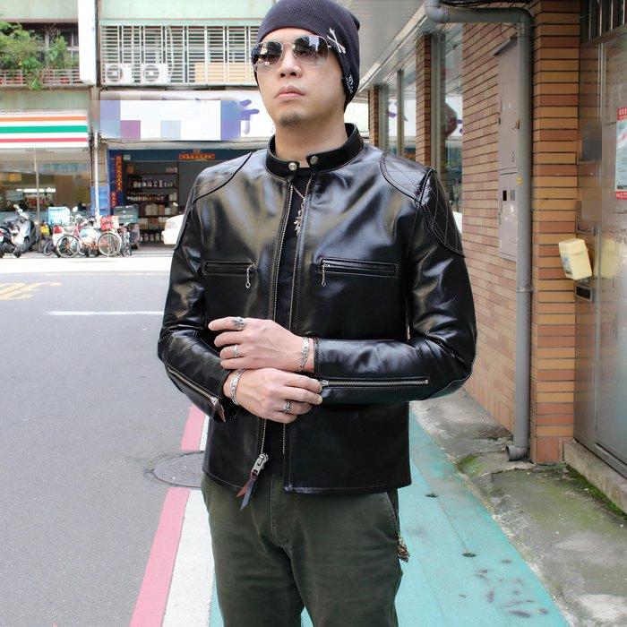 【Silver Monsters】日本Y'2 Leather 茶芯馬皮 J100 立領龜甲騎士皮衣 別注款(44)