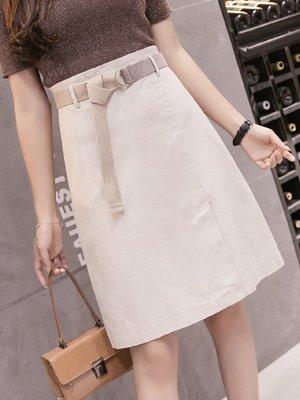 【蘑菇小隊】a字裙半身裙女夏新款防走光裙褲中長款高腰黑色一步裙包臀裙-MG50408