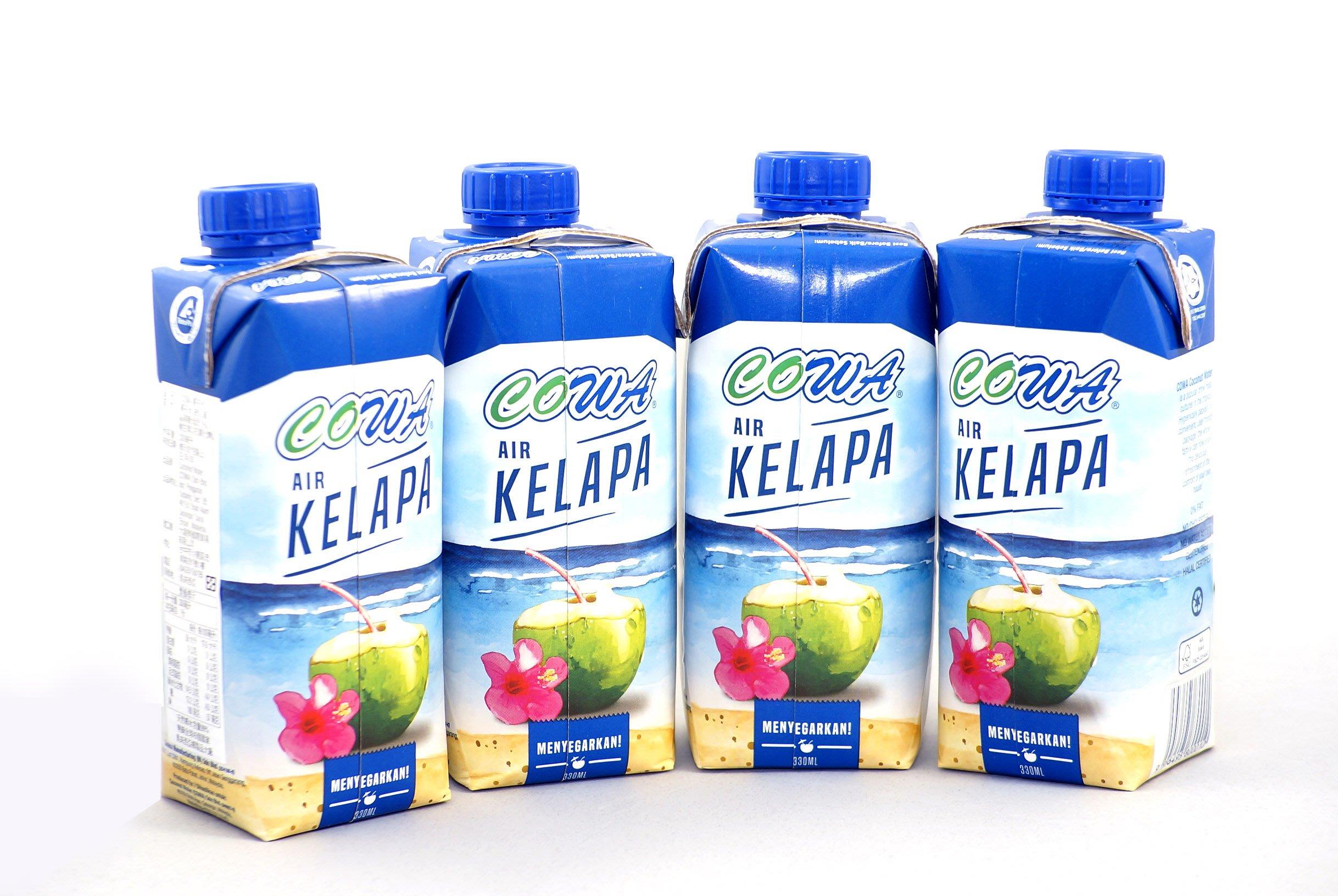 貨到付款!來自馬來西亞純天然椰子水! COWA椰子水 一箱12罐