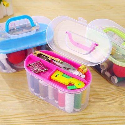 ☜shop go☞【K11-1】居家便攜針線盒套組 多功能 工具 針線包 24件組 補丁 衣服 破洞 修剪 家用 針線盒